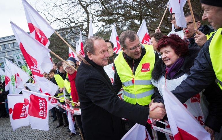 Am 21. März 2016 vor dem Verhandlungsauftakt in Potsdam