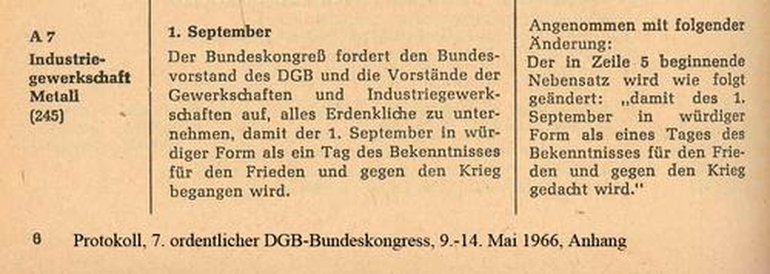 Auszug aus Protokoll 7. DGB-Bundeskongress