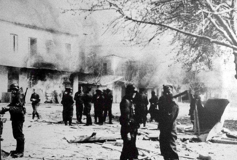 10. Juni 1944, griechische Stadt Distomo nach Nazimassaker