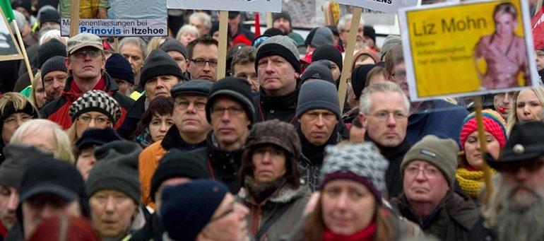 Eine Stadt steht auf: Protest bei Prinovis
