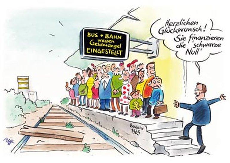 Im ÖPNV drohen drastische Einschnitte, wenn Bundeszuschüsse für die Infrastruktur wegfallen.