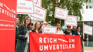 """Soziale Gerechtigkeit hat viele Facetten – das Bündnis """"Reichtum umverteilen"""" will den Wohlstand neu verteilen"""
