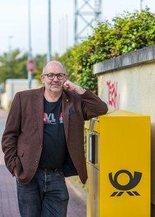 Tiny Hobbs, 59, gewerkschaftlich aktiver Briefzusteller aus Frankfurt am Main