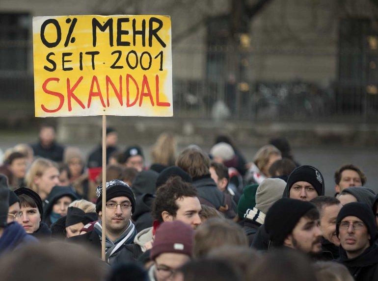 17 Jahre ohne Lohnerhöhungen – das wollen die studentischen Beschäftigten in Berlin nicht länger hinnehmen