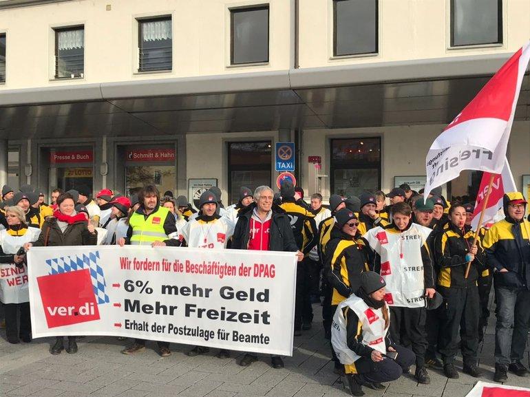 Freising: Postbeschäftigte in Bayern beteiligten sich am Warnstreik