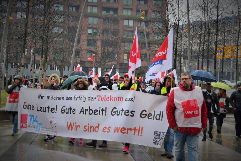 Auch in Dortmund streikten diese Woche viele Beschäftigte der Deutschen Telekom