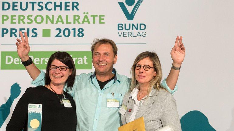 Der Personalrat des Ordnungsamtes der Stadt Frankfurt/Main wurde mit dem Deutschen Personalräte-Preis in Gold ausgezeichnet