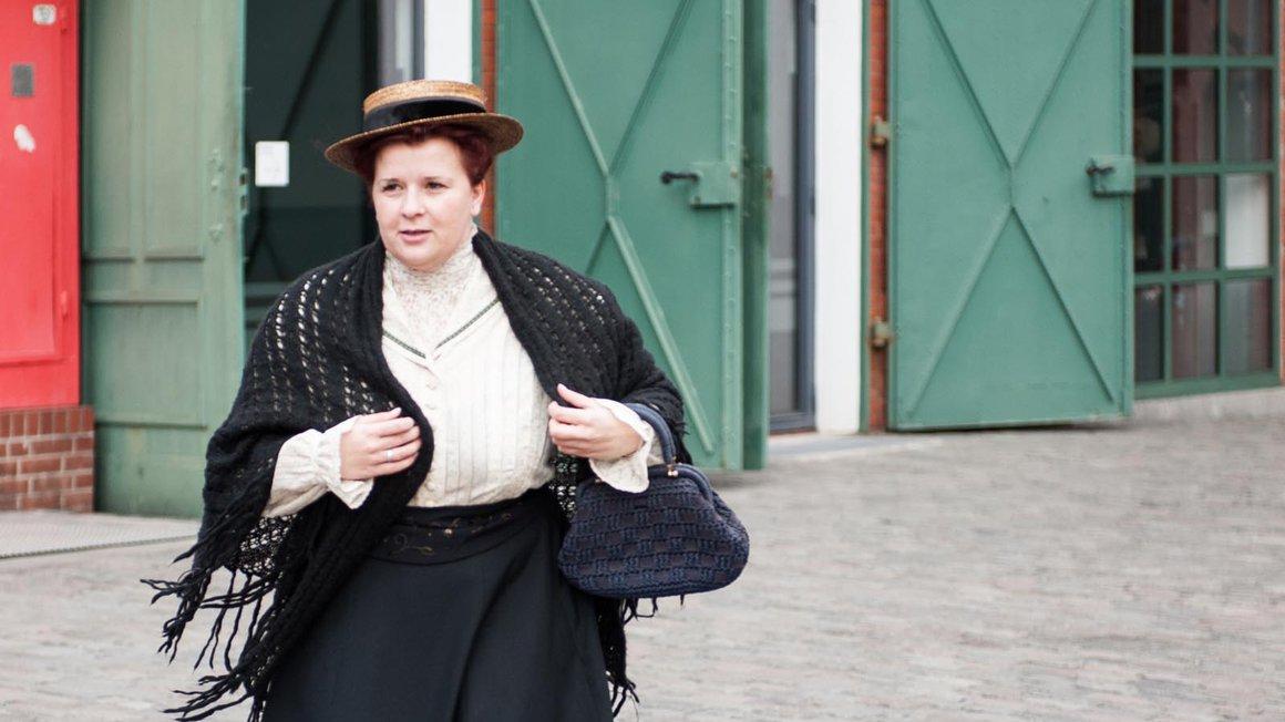 Paula Thiede, dargestellt von Isabell Senff, war die weltweit erste weibliche Vorsitzende einer gemischtgeschlechtlichen Gewerkschaft