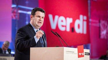 Bundesarbeitsminister Hubertus Heil, SPD, beim ver.di-Bundeskongress