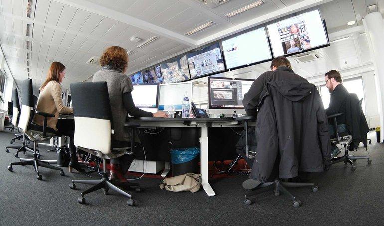Newsroom der Bild-Zeitung in Berlin