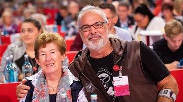 Zwei von knapp 1.000 ver.di-Delegierten auf dem Bundeskongress 2019
