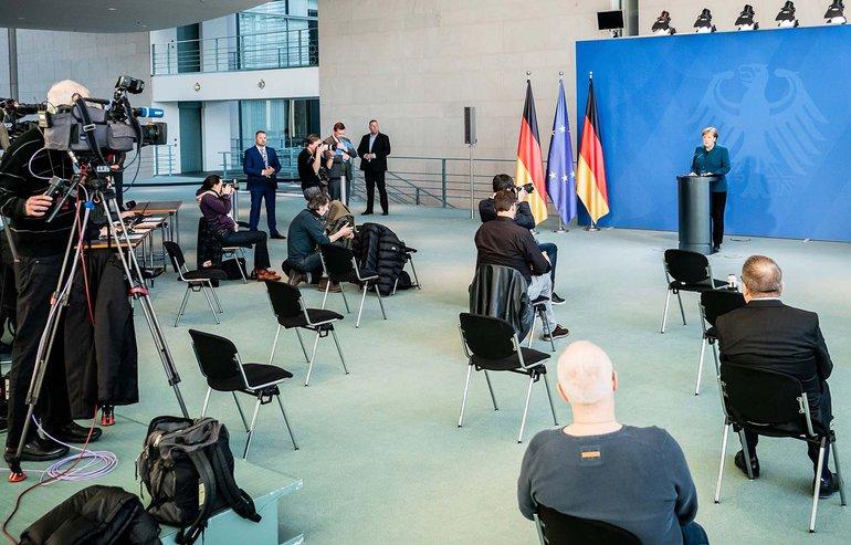 Die Lücken in der Medienlandschaft werden nicht in der Bundespressekonferenz Corona-bedingt größer