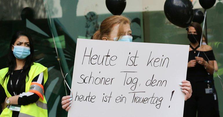 Protest gegen drohende Filial-Schließungen