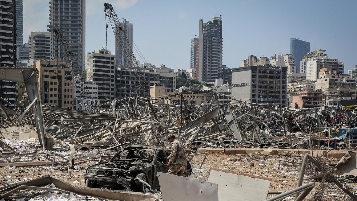 Beirut nach der Explosion am 4. August 2020