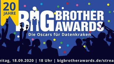 Die BigBrotherAwards wurden zum 20. Mal an Firmen, Privatpersonen und Politiker*innen vergeben, die Daten sammeln und überwachen