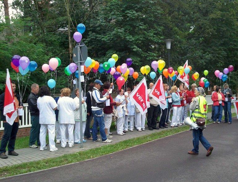 Demonstration Kampf der Beschäftigten des  Asklepios-Konzerns