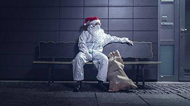 Solo-Selbstständiger Weihnachtsmann