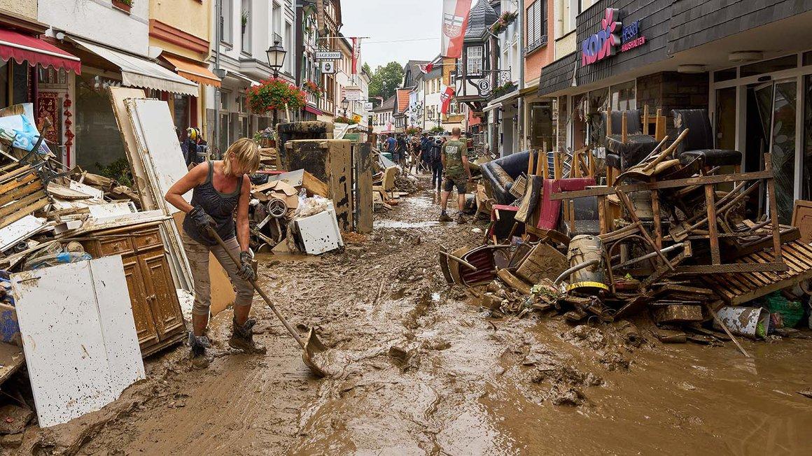 Die Unwetter der vergangenen Tage haben insbesondere in der Eifel zu schweren Verwüstungen geführt.