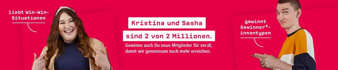 Kristina und Sasha sind 2 von 2 Millionen