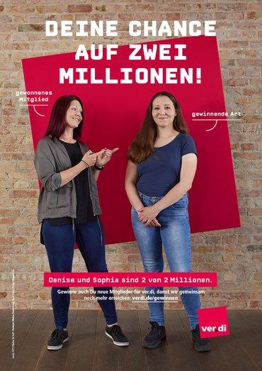 Denise und Sophia: Plakatmotiv Gewinner*innen
