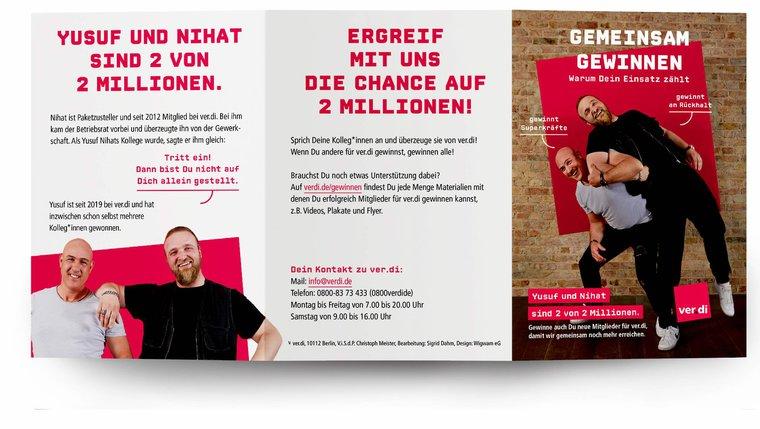 """Flyer """"Gemeinsam gewinnen. Warum Dein Einsatz zählt"""""""