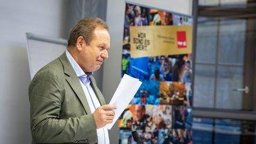 Frank Bsirske berichtet über den aktuellen Verhandlungsstand