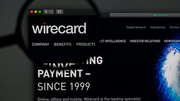 Die Website von Wirecard